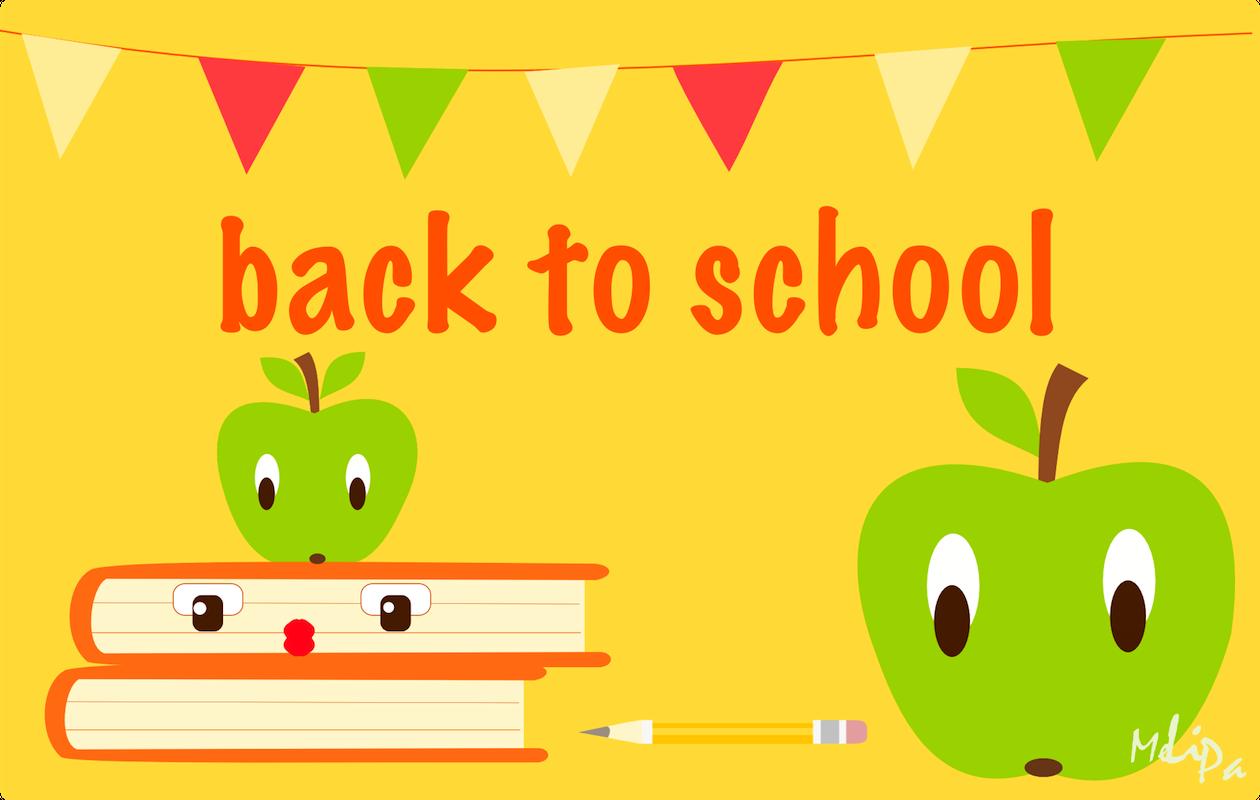 Back To School Iii Free Printable Back To School Card And Free Scrap Kawaii Apple S