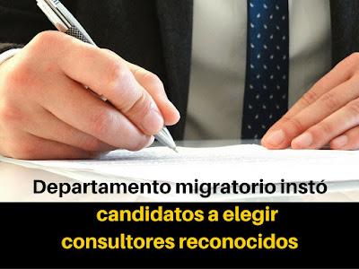 Primus Immigration Departamento migratorio instó a candidatos a elegir consultores reconocidos