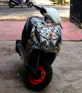 Honda Dio Modified Stickering Designs Car Accessories