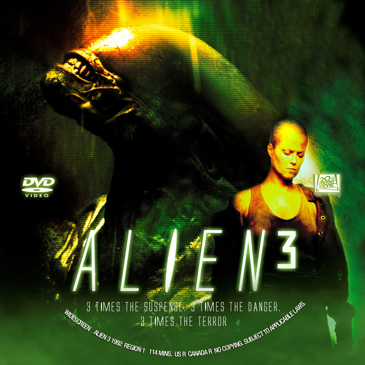 Alien 3 Movie: Free DVD, Bluray Covers