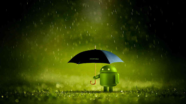android lluvia.