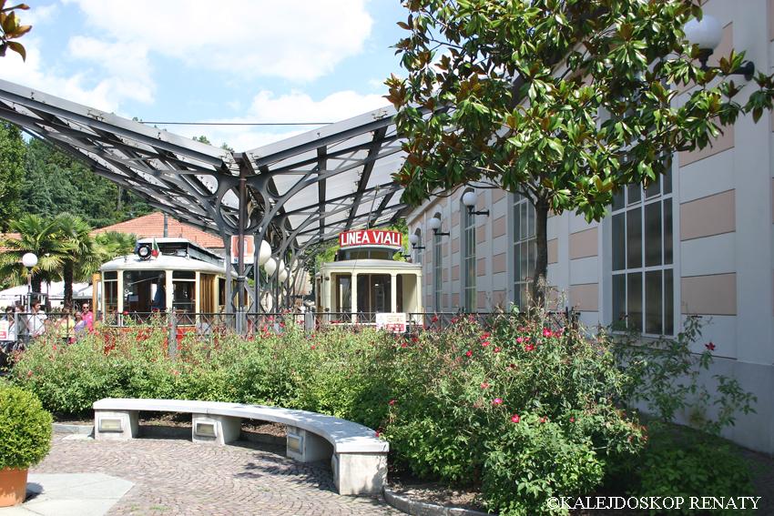 Stacja kolejki zwana cremagliera Sassi-Superga