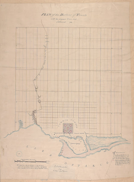1788 Plan of Harbour of Toronto, John Collins