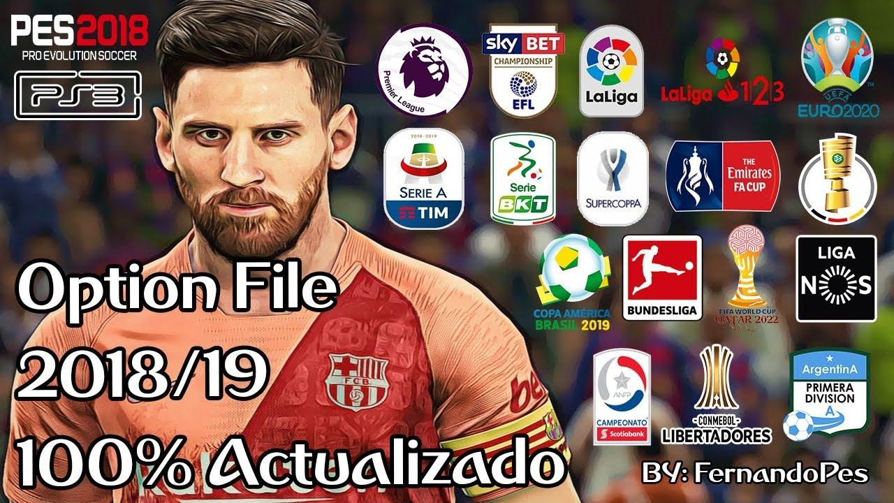 PES 2018 PS3 Option File FernandoPES Ultimate 2019 [ BLES