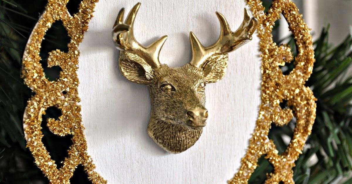 Serendipity Refined Blog Gold Reindeer Head Ornament Day1