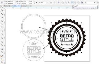 Cara Membuat Logo Retro Vintage Blurred Menggunakan CorelDRAW9