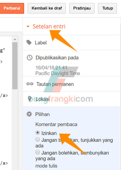 cara memasang komentar Disqus di Blogger/blogspot