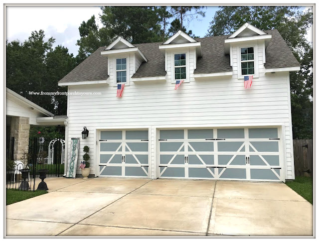 Patriotic Home Decor-4th of July- Farmhouse Garage-Flags-Front Porch-From My Front Porch To Yours