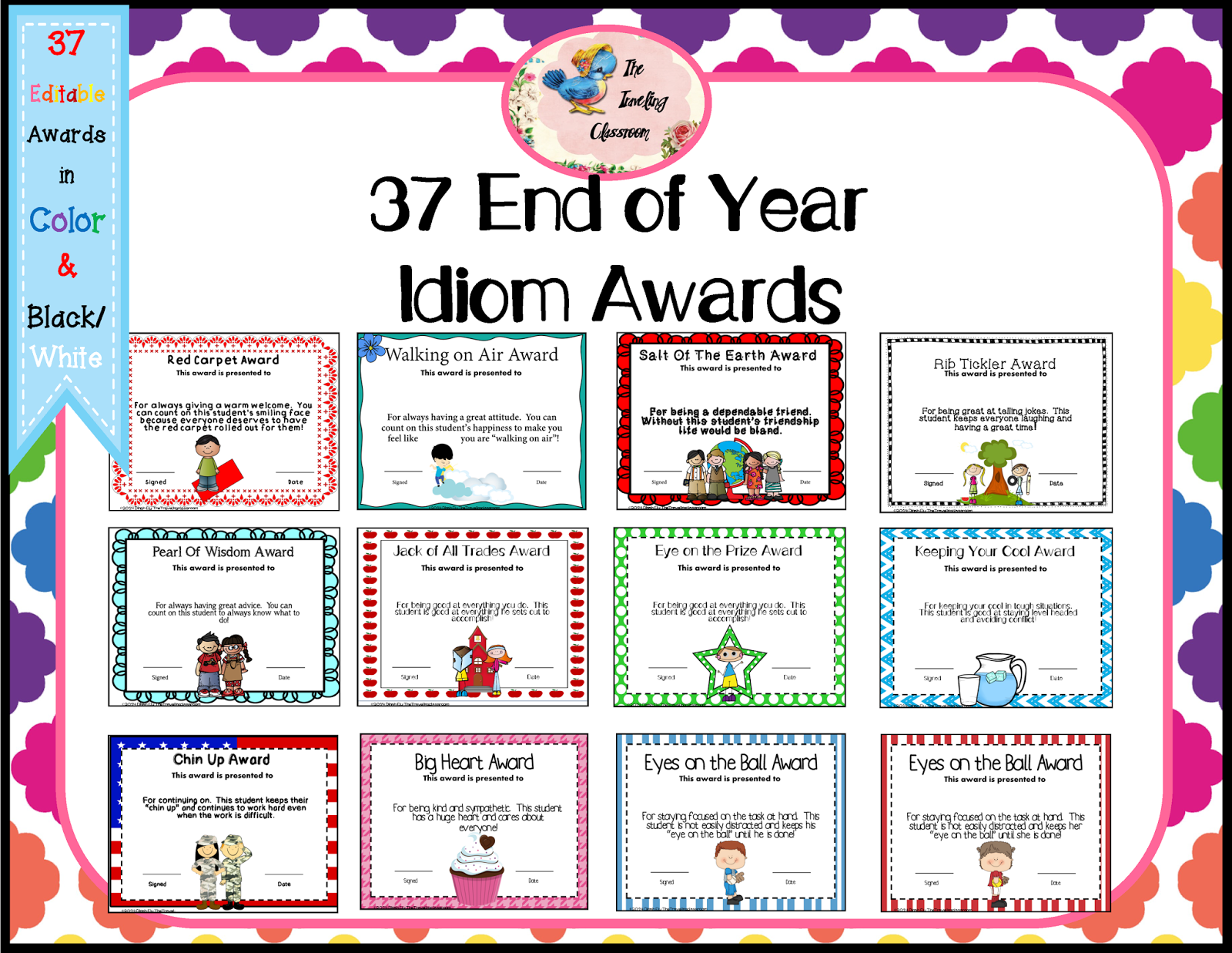 The Traveling Classroom End Of The Year Idiom Awards