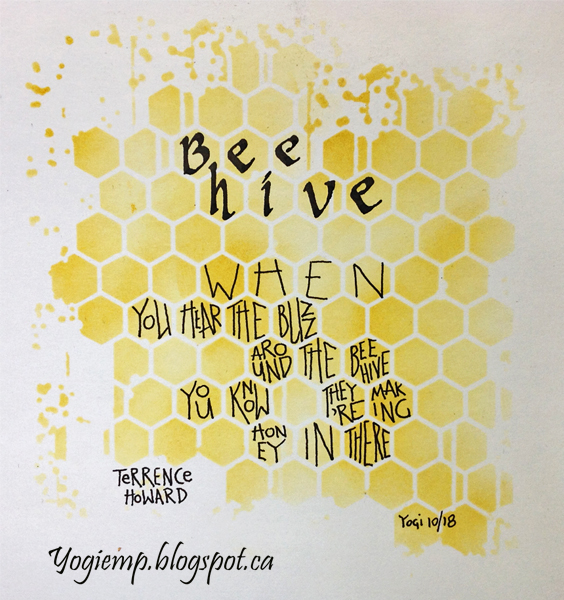 http://www.yogiemp.com/Calligraphy/Artwork/BeeHive&EarlyOneMorning.html