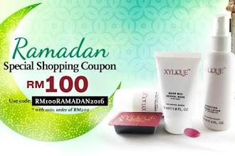XYLIQUE nak beri RM100 Kupon Membeli-belah sempena Ramadan !