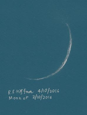 Roy Hoffman drawing of the new moon