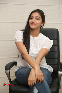 Tollywood Telugu Actress Mouryaani Latest Stills in Ripped Jeans at Intlo Deyyam Nakem Bhayam Movie Interview  0060.JPG