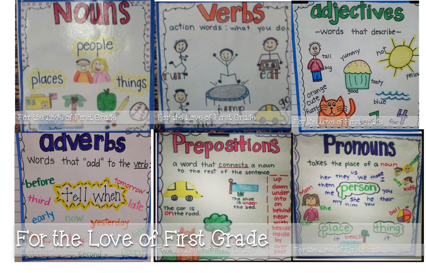 medium resolution of For the Love of First Grade: Printable Anchor Charts are HERE!