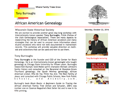 African-American Genealogy Flyer
