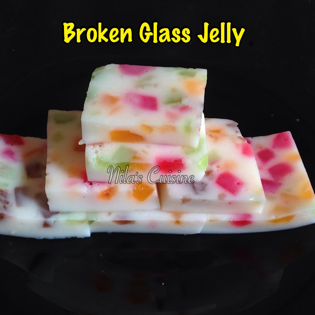 Broken Glass Jelly/Agar Agar Pudding