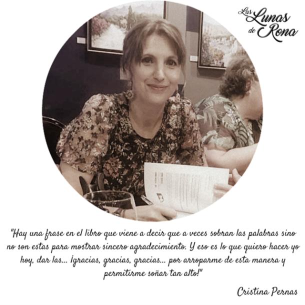 La presentación de Las lunas de Rona libro novela autora Cristina Pernas