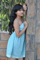 Sahana New cute Telugu Actress in Sky Blue Small Sleeveless Dress ~  Exclusive Galleries 031.jpg