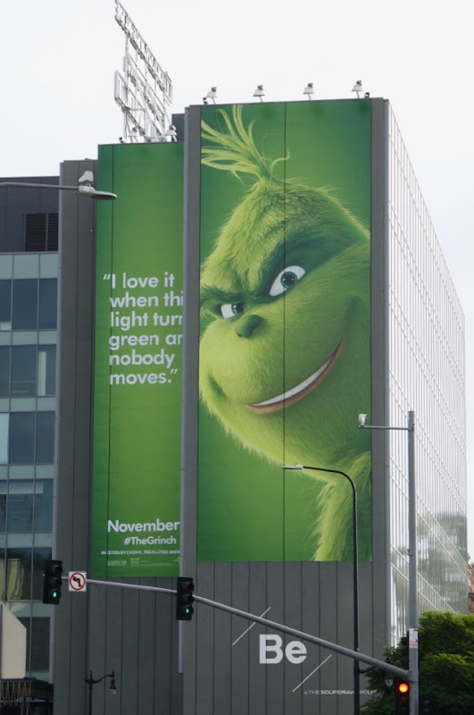 lights green nobody moves Grinch billboard