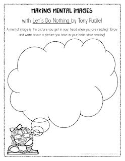 Freebie!  Mentor Text for Making Mental Images : Let's Do Nothing by Tony Fucile!