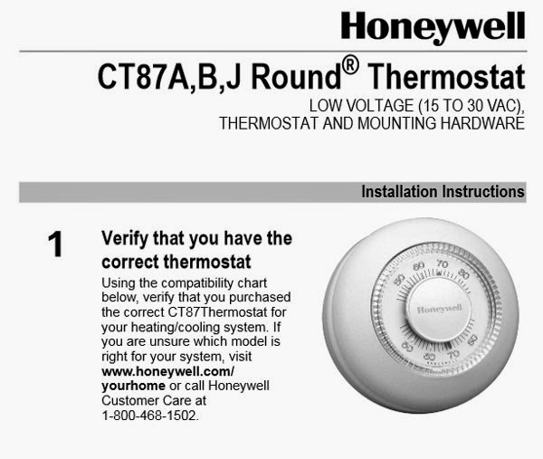Honeywell Round Thermostat Wiring Diagram : Honeywell ct n thermostat wiring diagram