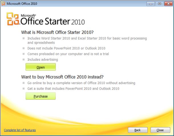 تحميل برنامج مايكروسوفت اوفيس ستارتر