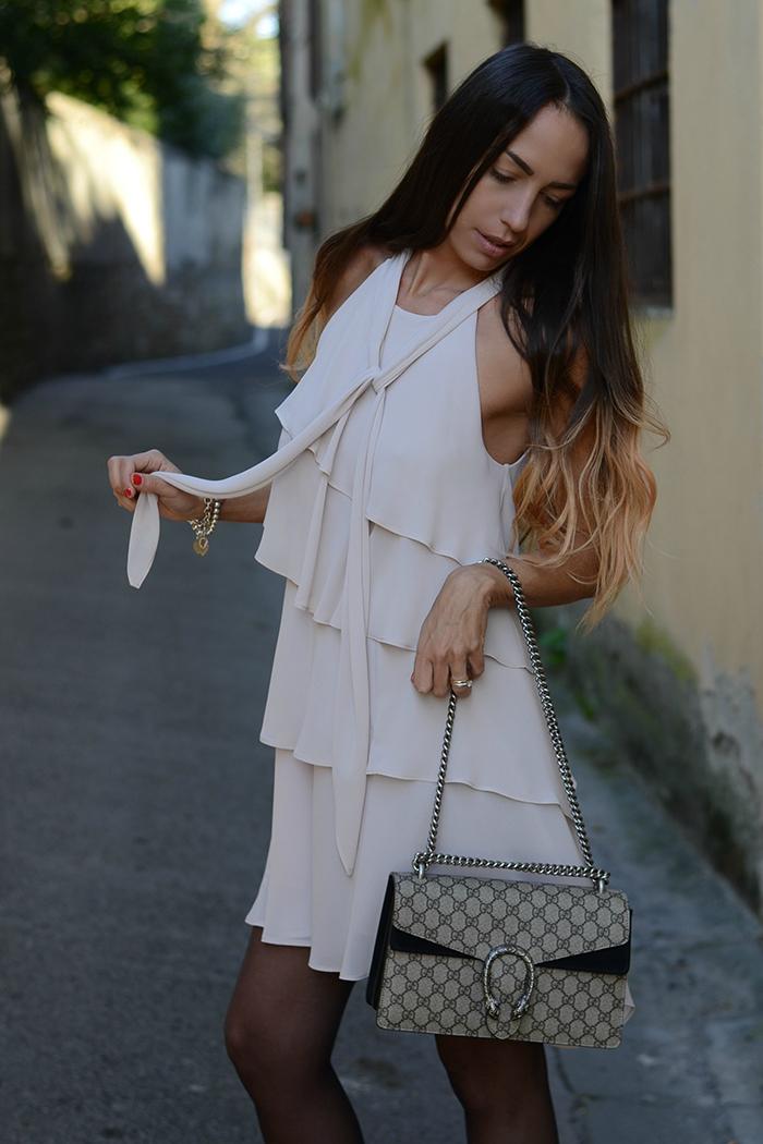 abito color cipria