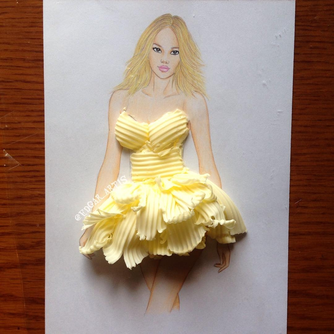04-Butter-Edgar-Artis-Drink-Food-Art-Dresses-and-Gowns-Drawings-www-designstack-co