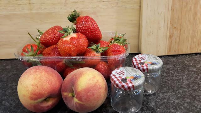Rezept für Erdbeer-Pfirsichmarmelade