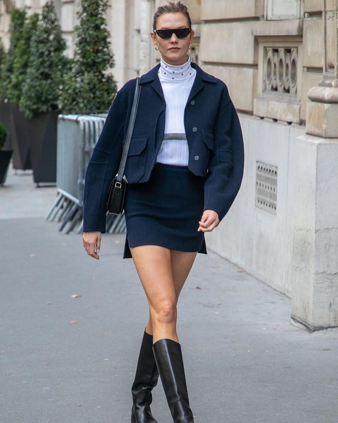 How to Style a Short Skirt in the Winter