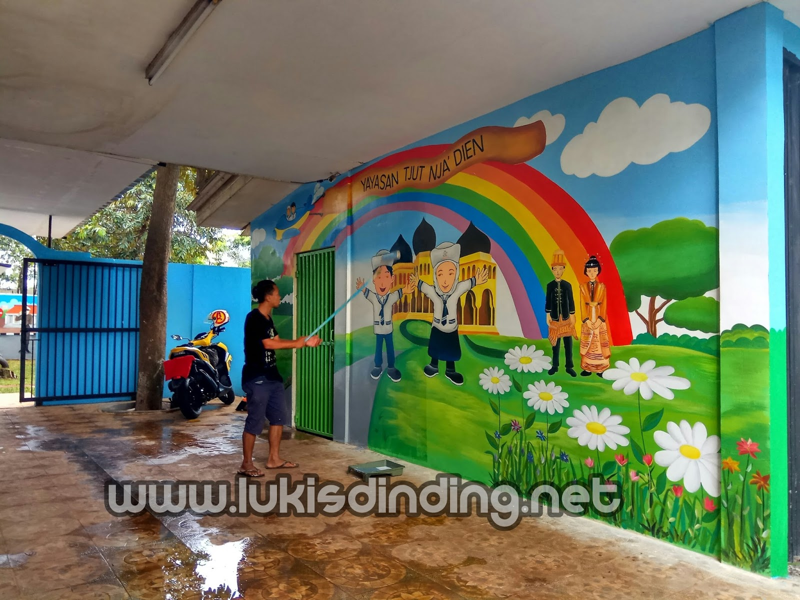 Gambar Dinding Sekolah Paud Nusagates