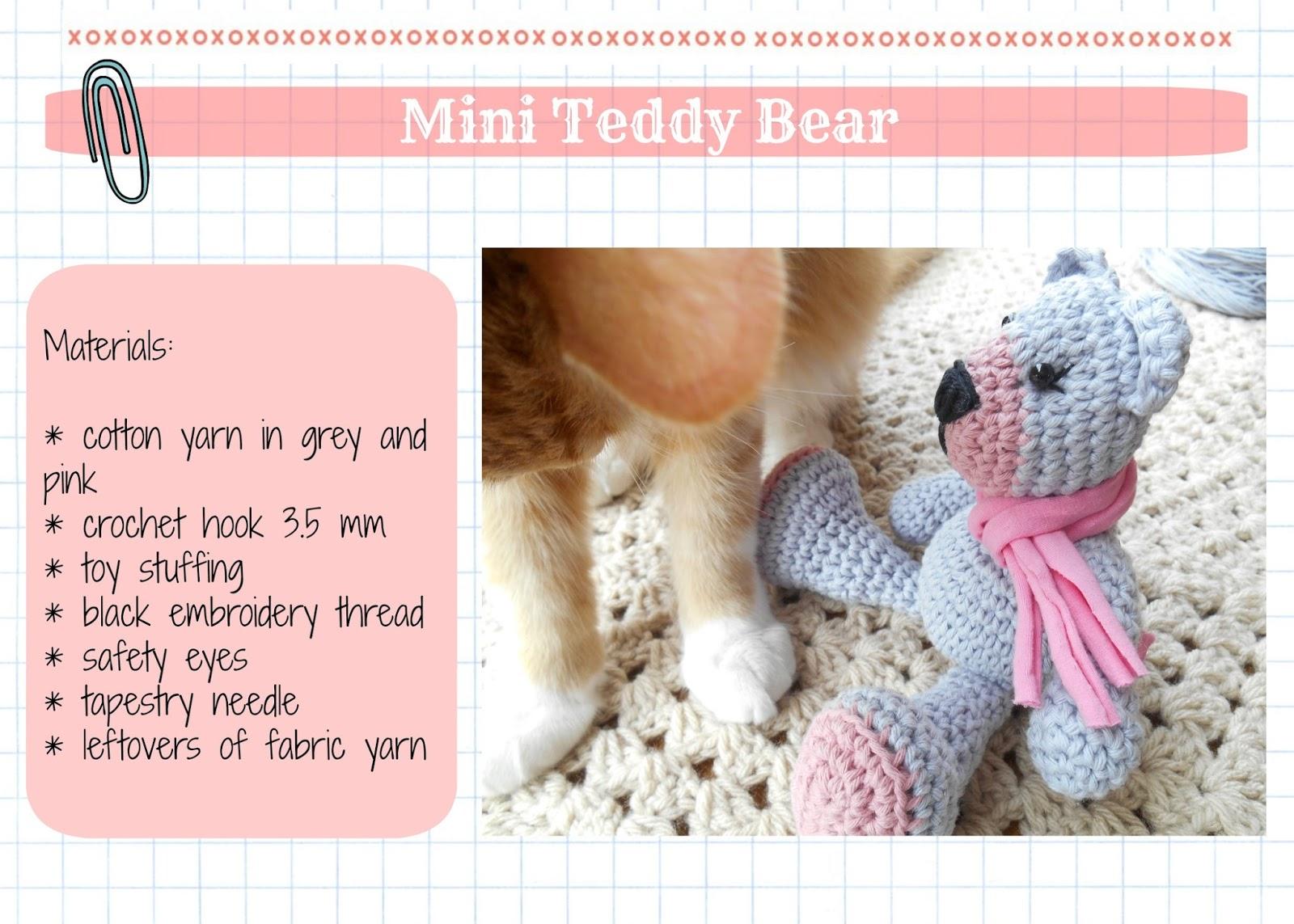 Tiny Mini Design - Amigurumi Teddy Bear Pattern: My Krissie Dolls ... | 1143x1600