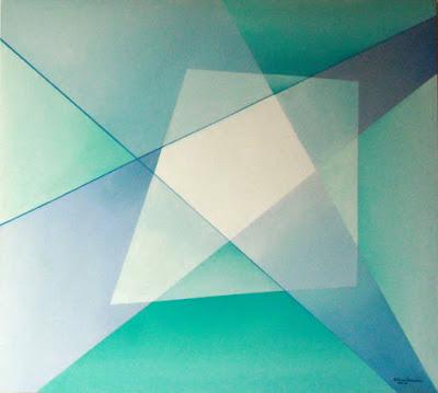 Movimento entre as formas, geometria abstrata da artista Elma Carneiro