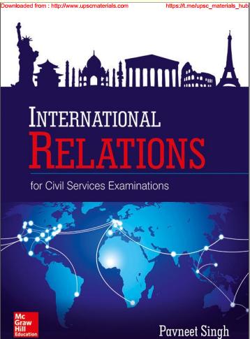 International Relations (Pavneet Singh) Free Pdf Download