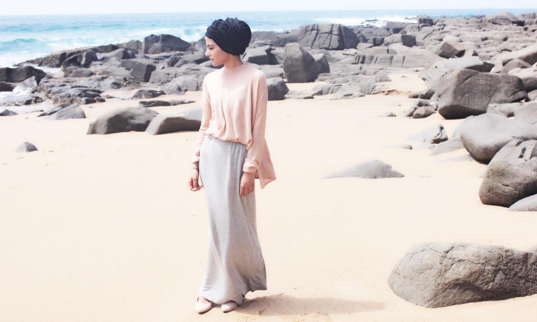 Baju Koas Longgar hijab turban manis dan seksi