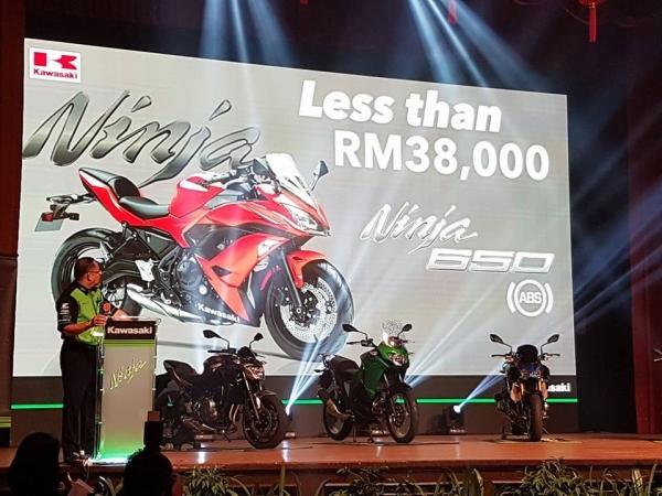 harga Ninja 650 ABS ialah RM38,000