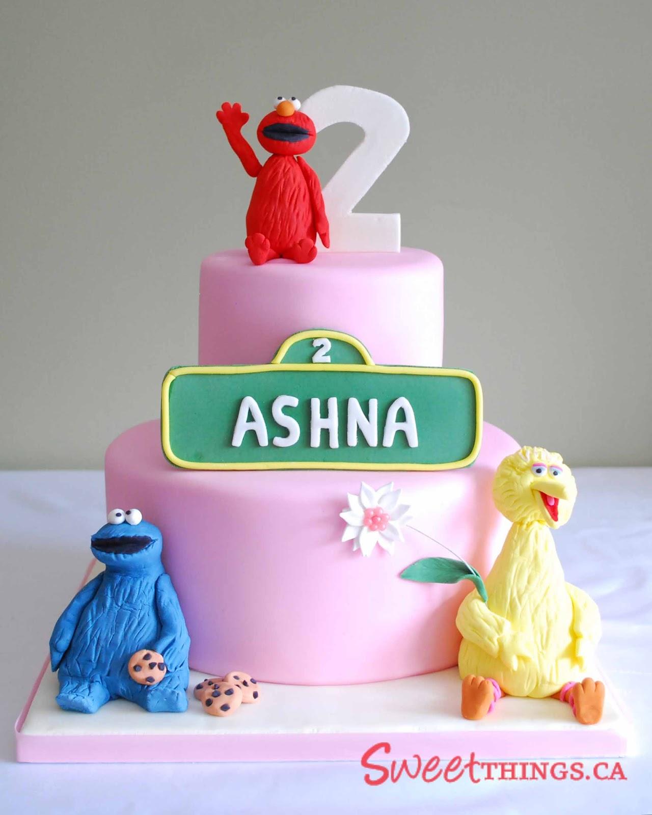SweetThings: 2nd Birthday Cake: Sesame Street Cake