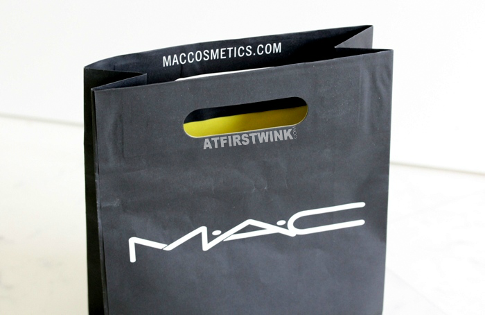 My first MAC purchases in the MAC paper shopping bag