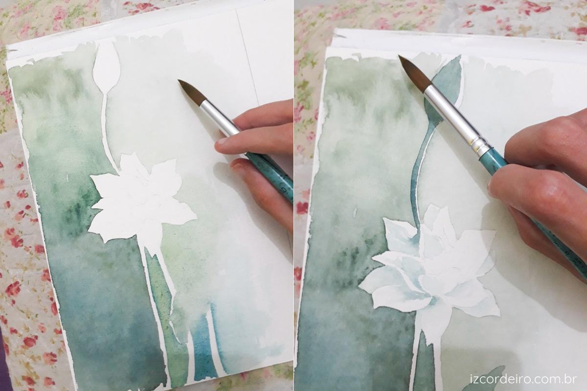 fazer o branco na aquarela