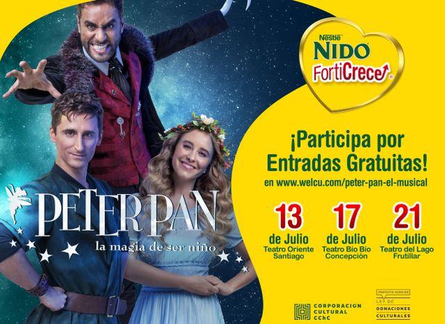 Peter Pan, el musical, en el Teatro del Lago de Frutillar
