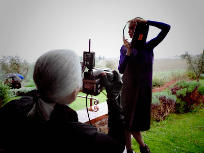 Fendi's Fall/Winter 2012-13 AD Campaign Shoot Behind-the-scenes Karl Lagerfeld Joan Smalls Baguette