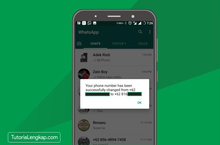 tutorialengkap 7 cara mengganti nomor whatsapp yang sudah mati