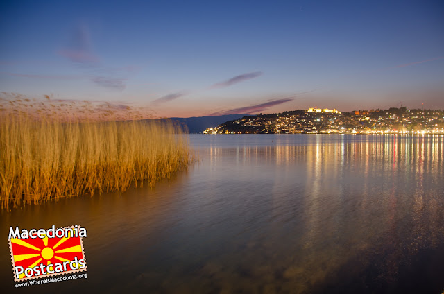 Ohrid city at night, #Macedonia