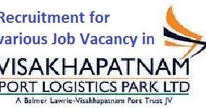 Job Vacancy in Visakhapatnam Port Logistics Park