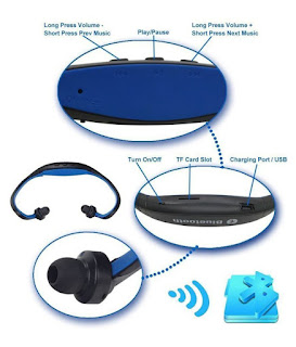 cuffie bluetooth mp3 sport