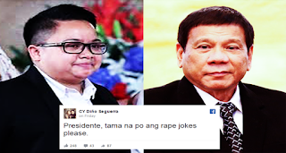2qrKlvj Aiza Seguerra to President Duterte: Tama na ang rape joke please
