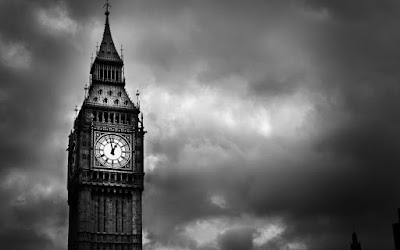 Big Ben, London, in black and white
