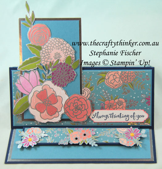 #thecraftythinker  #stampinup  #cardmaking  #easelcard  #funfold, funfold,  Stampin' Dreams, Sweet Soiree, Easel Card, Stampin' Up Australia Demonstrator, Stephanie Fischer, Sydney NSW