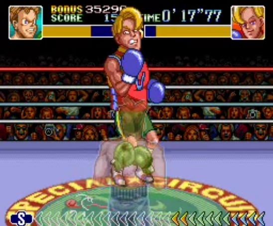 Narcis Prince face hit rage angry Super Punch-Out!! British Boxer
