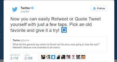Ahora Es Posible Retwittear Nuestros Propios Tweets